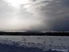 Winter watching a snowstorm come by seeAroostook on Etsy