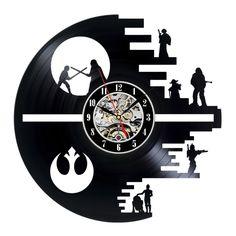 Vinyl Record Wall Clock Gift Star Wars