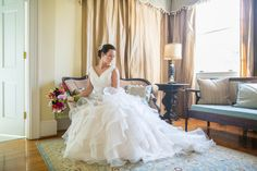 ruffled gown | Dana Cubbage #wedding