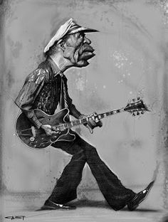 Chuck Berry  (by Sebastian Cast -Dibujante