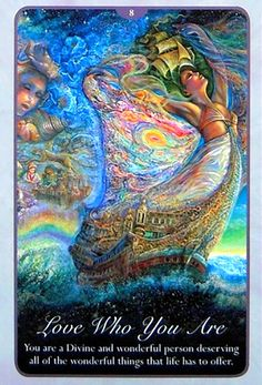 """""""8 Love Who you are 2"""" Oracle Cards Whispers of Love par Josephine Wall and Angela Hartfield"""