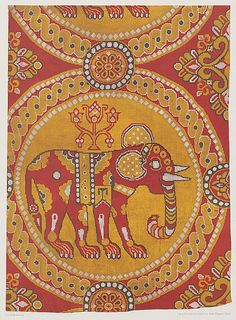 Elephant and Holy Tree fabric, 900 AD. Silk. Byzantine. Kunstgewerbemuseum Berlin. Via Uni Heidelberg