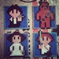 Personajes de Star Wars en Hama Beads by Monibregel