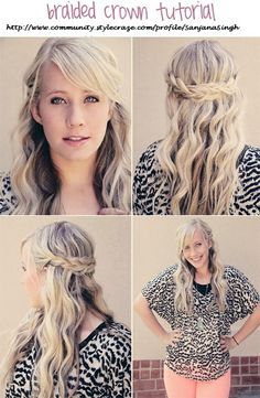 Braided crown hairstyle. Aka the pancake braid ~SJE