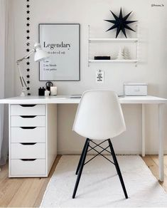 The Most Neglected Fact About White Office Decor Exposed -, the most born fact . - The Most Neglected Fact About White Office Decor Exposed -, the most overlooked fact about exposed - Study Room Decor, Cute Room Decor, Room Ideas Bedroom, Office In Bedroom Ideas, Ikea Bedroom Design, Gold Room Decor, Den Decor, Study Room Design, Teen Bedroom Designs