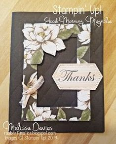 One of my favorites coming in the new Annual Catalog is the Magnolia Lane Suite. Magnolia Stamps, Stampin Up Catalog, Magnolia Flower, Stamping Up Cards, Scrapbooking, Custom Cards, Sympathy Cards, Card Kit, Paper Cards