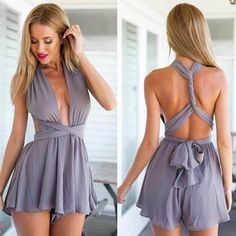 Sexy backless cross strap jumpsuits [ERV28SH]