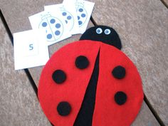 Ladybug Math Kit by feltyfun on Etsy