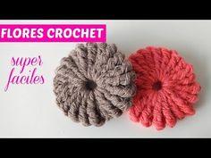 Flor a crochet muy fácil - YouTube