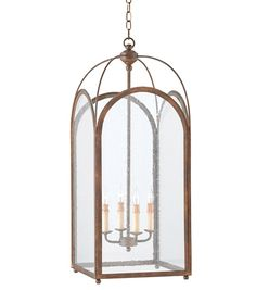 "Currey & Co. Loggia Lantern, Small #9035 34 5/8""H x 14""D x 14""W $2460"