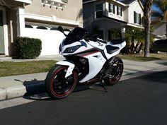 Red accents? hmmmm  Kawasaki Ninja 300