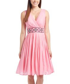 Loving this Candy Embellished Surplice Dress on #zulily! #zulilyfinds