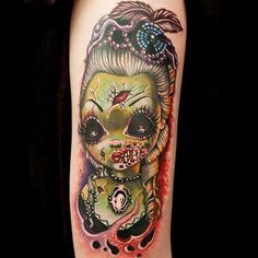 29 Best New School Zombie Tattoo Flash Images Zombie Tattoos
