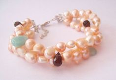 Pearl Bracelet AAA Natural Colour Cultured Freshwater Pearls £30.00