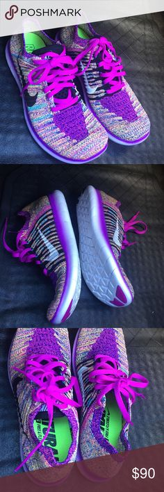 NIKE FREE RN FLYKNIT Nike running shoe. FREE & flexible. No trades. Excellent condition. Never worn outside. No trades. Nike Shoes Athletic Shoes