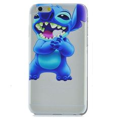 Lilo & Stitch Eating Logo Clear Transparent Case For Apple Iphone 6/6s PLUS (5.5-inch)