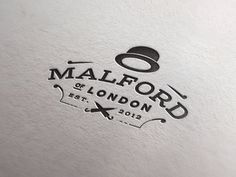 Malford Stamp #graphic #design #inspiration #logo #logotype #hat #london