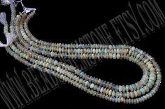 Ethiopian Opal Faceted Roundel Quality B /  36 by beadsogemstone, $58.00