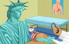 #JohnHolcroft #editorialillustration #illustration #LadyLiberty #StatueofLiberty #crisis #lindgrensmith