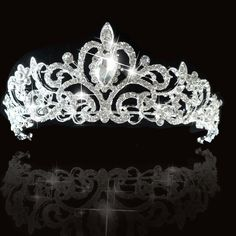 2014 New Fashion Tiara and Crown princess crown For Wedding bride quinceanera… Hairstyles For Gowns, Crown Hairstyles, Wedding Tiaras, Wedding Bride, Bridal Tiara, Bridal Headpieces, Quinceanera Tiaras, Dress Cake, Fancy Hats