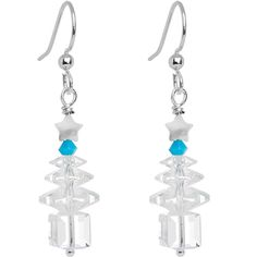 Handcrafted Crystal Christmas Tree Earrings MADE WITH SWAROVSKI ELEMENTS #piercing #earrings #bodycandy #holiday #christmas #gift ONLY $12.99