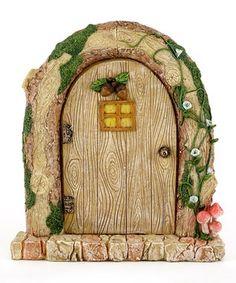 Large Charming Wood Log Fairy Door Décor