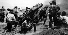 A British mm)) gun at full recoil, in action during the Battle of Gallipoli, The battle was also known as the Dardanelles Campaign, and was an unsuccessful attempt by the Allied Powers to control the sea route from Europe to Russia during World War I History Channel, Pearl Harbor, Hiroshima, World War One, First World, Gallipoli Campaign, Historia Universal, History Online, Nz History
