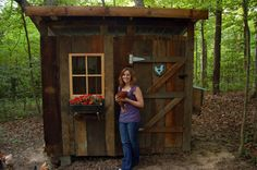 recycled wood barn chicken coop <a