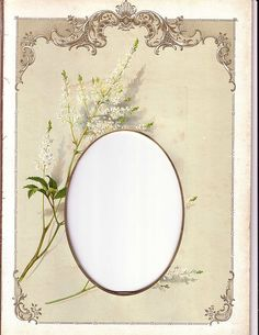 Lovely Chromolithograph Page (Mat) from Victorian Album, Cabinet Photo, c. 1900