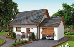 Projekt domu wielorodzinnego ORLEAN 5 dom letniskowy z poddaszem Model House Plan, Tiny House Plans, Outdoor Pergola, Small House Design, Big Houses, Cottage Homes, Home Fashion, Loft, House Styles