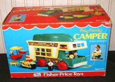 Vintage Fisher Price Camper - Complete in Boxp Old School Pizza, School Fun, Fisher Price Toys, Vintage Fisher Price, Vintage Toys, Vintage Stuff, Metal Toys, Painted Books, Old Toys