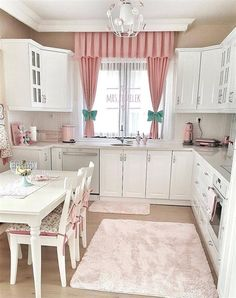 Herkese İlham Verecek Ev Dekorasyon Modelleri Home Decoration Models That Will Inspire Everyone The cheapest fund curtain models here, for more information DM in the in Shabby Chic Kitchen, Home Decor Kitchen, Kitchen Design, Rustic Kitchen, Country Kitchen, Vintage Kitchen, Kitchen Ideas, Decoration Bedroom, Interior Decorating