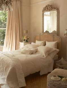 vintage yatak odasi
