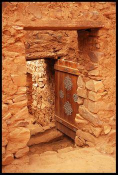 Africa   Old door in Ouadane, Adar, northern Mauritania   ©Alexandre Aubry