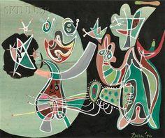 Transfigured Night - Peter Busa -  Indian Space painting, 1946
