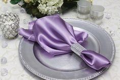 """Satin Napkin 20""""x20"""" - Victorian Lilac ● As Low as $0.49"""