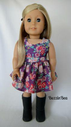 Purple Garden Dress  American Girl Doll Clothes by BuzzinBea