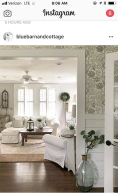 Anyone else open all the blinds / shades / shutters in your home at the first sign of daylight and wait to close them till the sun goes… Beach Cottage Style, Beach Cottage Decor, Cottage Ideas, Living Room Decor, Bedroom Decor, Living Rooms, Master Bedroom, Living Spaces, French Cottage