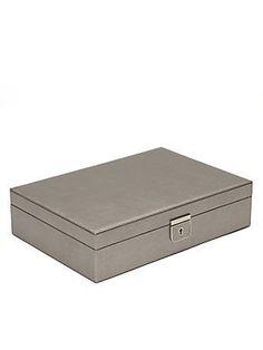 WOLF Palermo Leather Jewelry Box/Medium - No Color