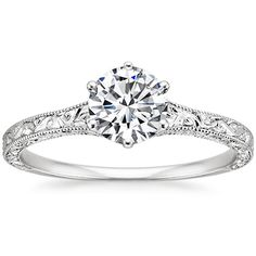 18K White Gold Hudson Ring from Brilliant Earth,  I adore this ring.  If I ever get engaged, I'd like this ring lol.