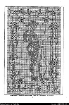 Mary Card's crochet book. no. 4 : containing designs & charts in the new filet crochet for Australian and New Zealand crochet workers.. - Page 39