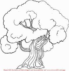 Baum 068 (kostenlose Malvorlagen und Ausmalbilder auf www_wicoworld_com).jpg (600×620)