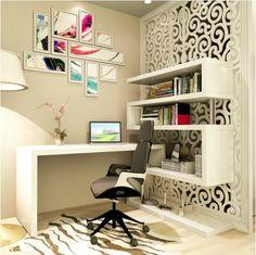 Desk In Living Room, Home Design Living Room, Mesa Home Office, Home Office Desks, Bad Room Design, House Design, Study Table Designs, Hygge Home, Bedroom Decor