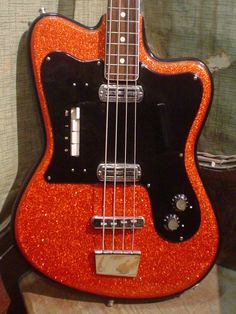 1960s Crucianelli Tonemaster Italian Red Sparkle Bass | Reverb