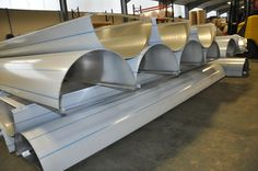 Funky slides for a playground? No! 19 Column casings being prepared for a school. For more call 01952 290498.