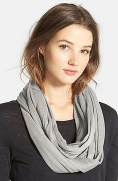 Halogen®+Slub+Jersey+Infinity+Scarf+available+at+#Nordstrom
