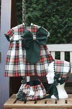 Capota Twin Outfits, Kids Outfits, Toddler Fashion, Kids Fashion, Little Girl Dresses, Girls Dresses, Angel Outfit, Baby Dress Patterns, Tartan Dress