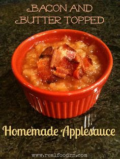 Bacon & Butter Homemade Applesauce  Healthy Side Dishes Bacon & Butter Homemade Applesauce Whole Food Recipes, Snack Recipes, Free Recipes, Dessert Recipes, Bacon And Butter, Homemade Applesauce, Grass Fed Butter, Healthy Side Dishes, Apple Recipes