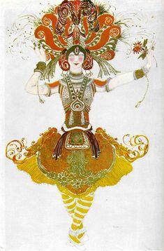 The Firebird, costume for Tamara Karsavina   - Leon Bakst
