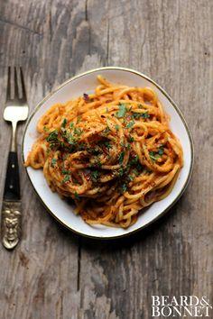 Savory Tomato Pesto 2 Ways (Gluten Free & Vegan Option)